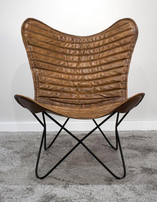 """Fotel wypoczynkowy 3 """" Butterfly Chair Brown"""""""