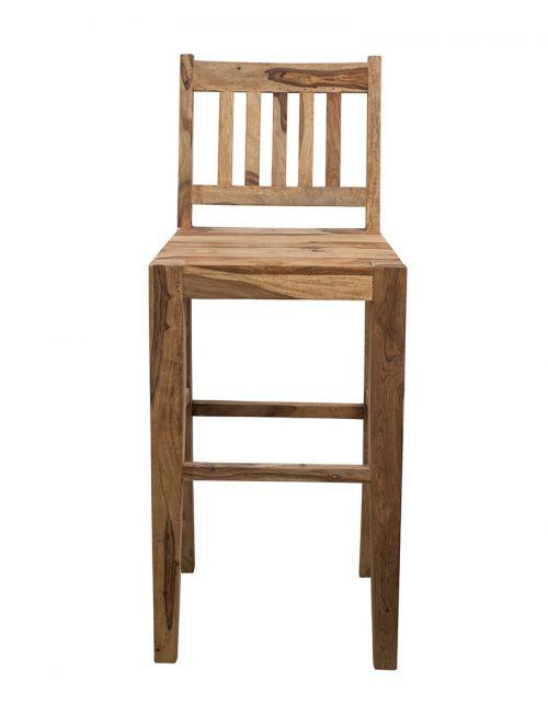 Krzesło Hoker drewniane barowe Natural Palisander