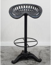 Krzesło barowe obiciem skórzanym M-10319