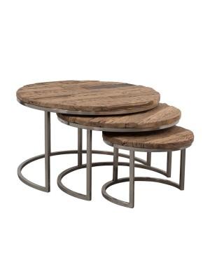Zestaw 3 okrągłych stolików TBL-001