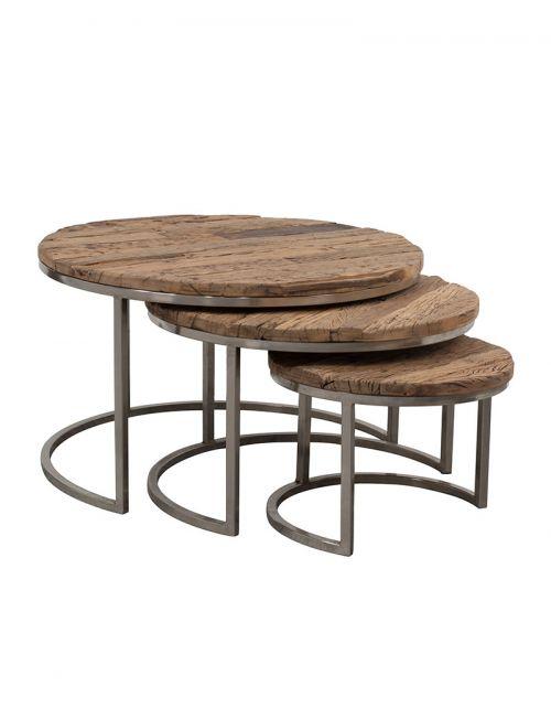 Zestaw 3 okrągłych stolików M-20071