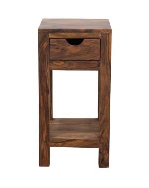 Stoliczek pod lampkę 1 szuflada PU Brown Spring