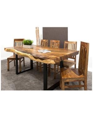 3-metrowy OKAZAŁY stół drewniany jadalniany SUAR WOOD 300/~85-115cm. Waga ok. 260kg!