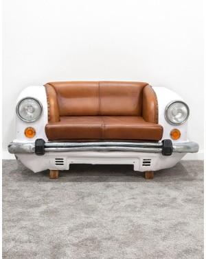 Stylizowana sofa samochód White CAR 158cm (zapalane światła!)