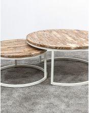 Zestaw okrągłych stolików kawowych Argenta