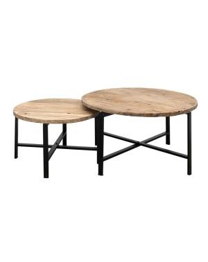 Komplet 2 stolików kawowych Linea (śr. 60 i 80cm)