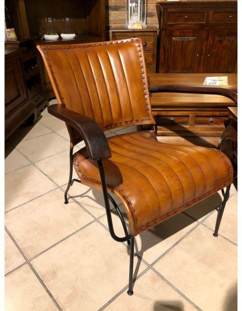 Fotel krzesło brown loft 65 x 72 x 74