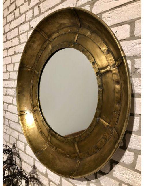 Lustro metalowe okrągłe 82 x 9 x 82 GOLD