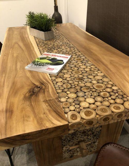 Stół jadalniany Coin Suar Wood 200 x 100 cm