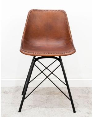 Krzesło 46 x 50 x 80 M-5792 skóra Industrial