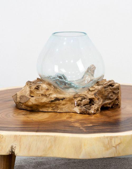 Szklana kula, drewno suar GB15