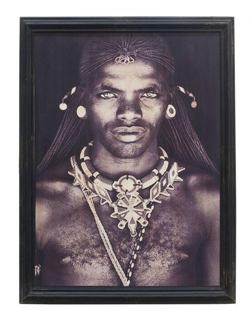 Obraz Masaj z Kenijskiej wioski - 75x92