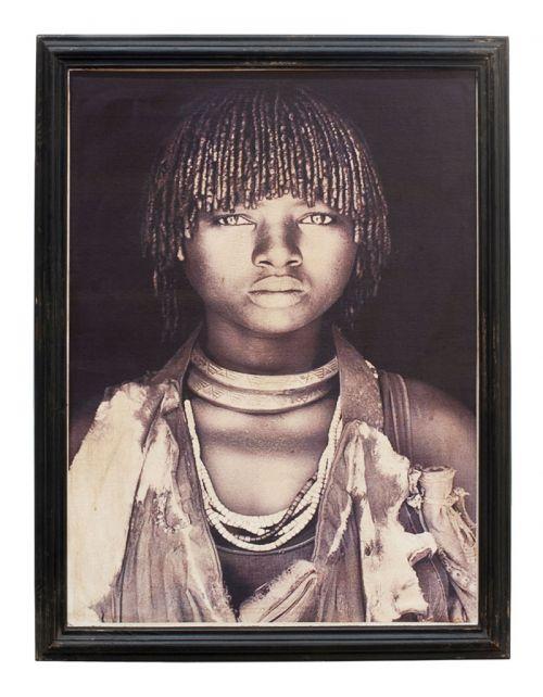 Zola Kobieta z wioski Masajskiej w stroju tradycyjnym, żona charyzmatycznego przywódcy w przededniu zaślubin 92x75