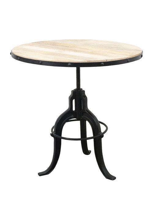 Drewniany Stolik kawowy 75x75x70-100