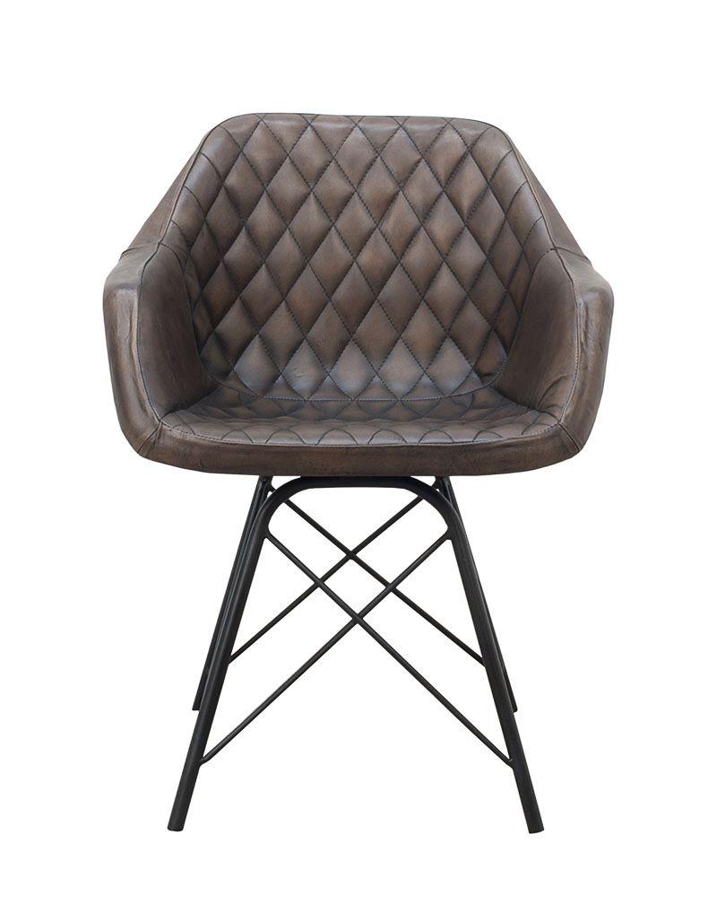Krzesło 61 x 49 x 80 M-17668 skóra pikowana