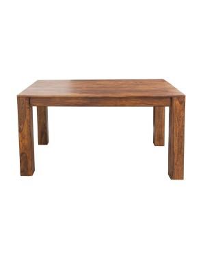 Stół drewniany jadalniany 148/220cm PU Brown