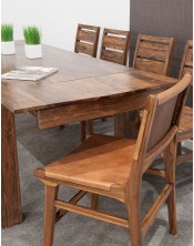 Stół drewniany jadalniany 148/220cm Oiled Matt