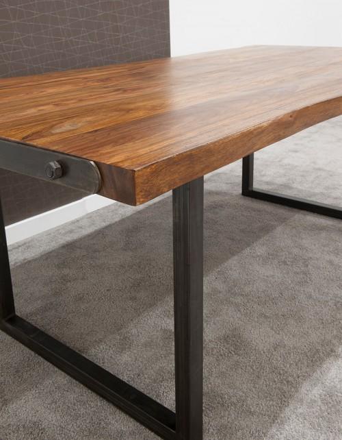Stół drewniany jadalniany 200/100/77 PU + 2 zestawy nóg IRON/CHROM