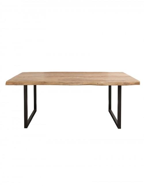 Stół drewniany jadalniany 200 x 100 x 77 NT + 2 zestawy nóg IRON/CHROM