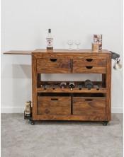 Barek / Szafka na wino Spring PU Brown 85x97x43