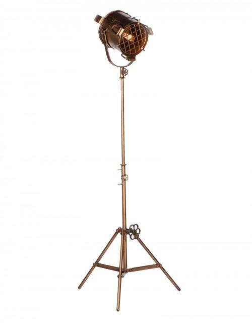 Mosiężna lampa podłogowa z regulacją