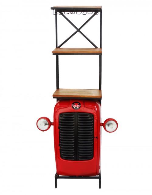 Barek metalowy / Traktor Winiarka z oświetleniem