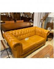 Fotel brown 93x80x70 skóra - loftowy design