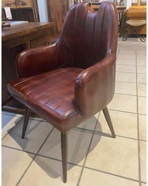 Krzesło z obiciem skórzanym HD-9578 PU Brown