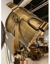 Mosiężna lampa podłogowa z regulacjami