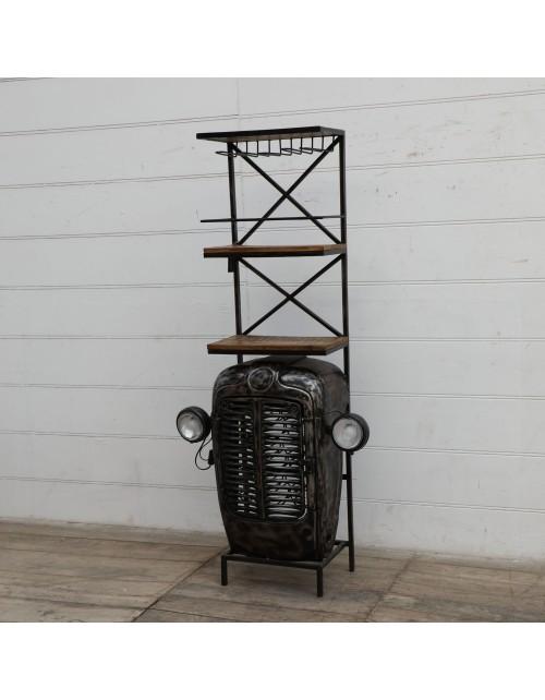 "Barek metalowy / Regał ""Old Black Tractor"""