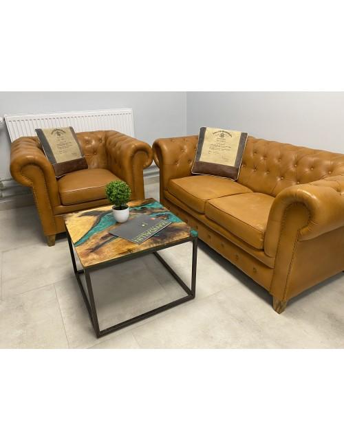 Zestaw Fotel + Sofa Brown Exclusive 100x80x73 /155x82x71