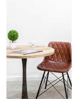 Krzesło z obiciem skórzanym 84x52x48