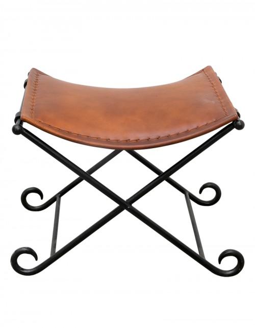 Krzesełko / siedzisko skórzane loft