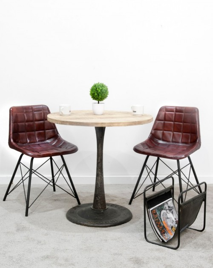 Krzesło z obiciem skórzanym 74x47x50