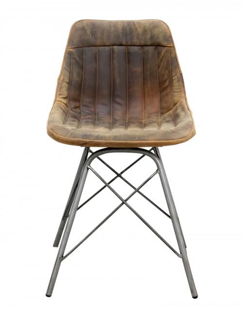 Krzesło z obiciem skórzanym NADOTI 46x48x78