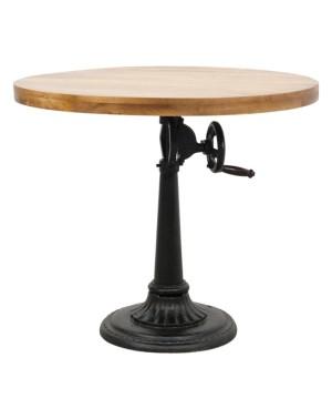Barowy stolik kawowy śr.90cm, wys.75-102 cm