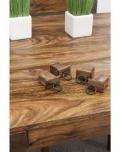 Stół drewniany jadalniany 160/250 PU Brown Palisander