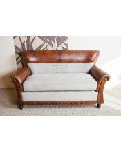 Brown Sofa 2 osobowa 150x75x90