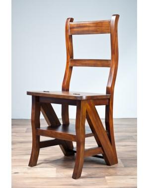 Krzesło / Drabinka Kolonialne klasyczna Mahoń