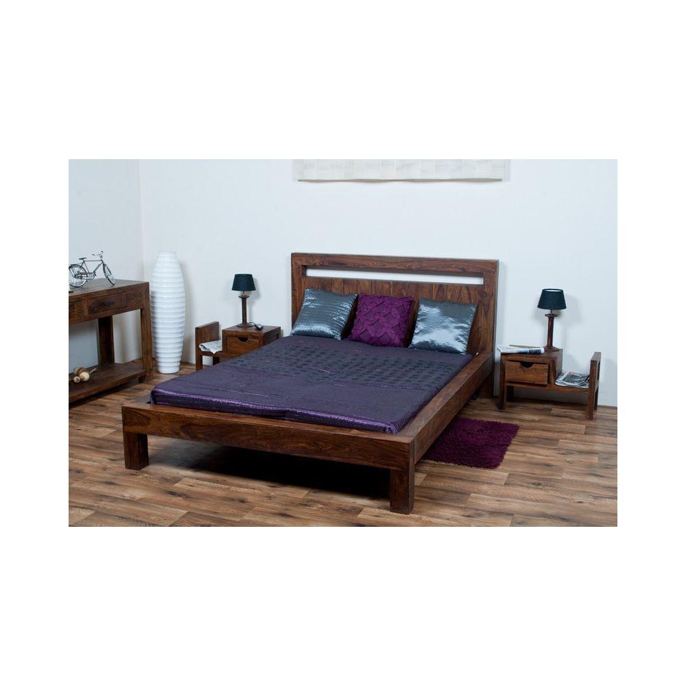 łóżko Drewniane 180 X 200 Oiled Matt Mandallin Meble Kolonialne