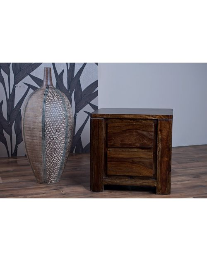 Stolik drewniany / Szafka nocna (2) Madras Brown