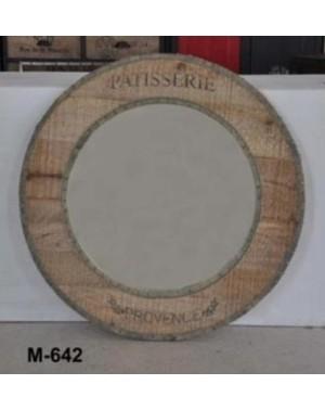 M-642 lustro Okrągłe  90 x 90 Palisander