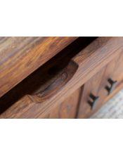 Komoda 2 szuflady 2 drzwi palisander PU Brown Spring