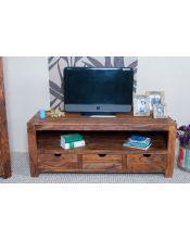 Komoda RTV/ TV 3 szuflady Palisander PU Brown Spring