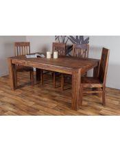 Stół drewniany jadalniany 200/300cm PU Brown