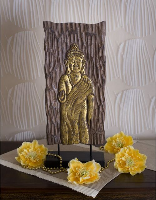 Panel Buddha Gold