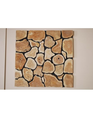 Dekoracja z drewna tekowego