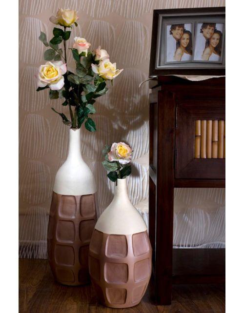 Komplet 2 wazonów Brown Beige