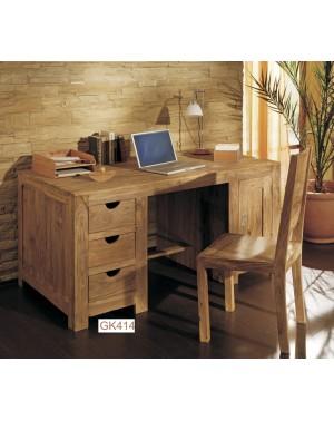 Biurko drewniane kolonialne (1+3) Natural