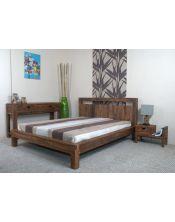 Łóżko drewniane 160 x 200 PU Brown